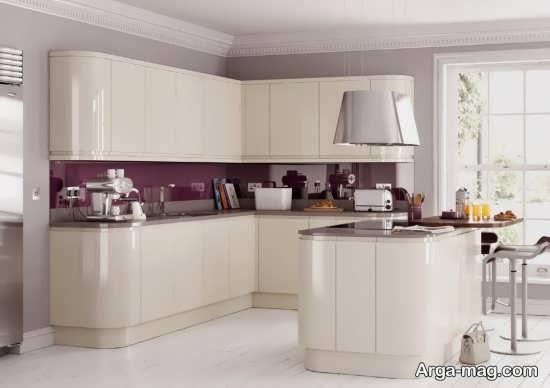 مدل کابینت سفید و مدرن آشپزخانه