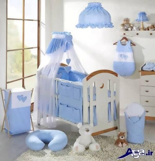 دکوراسیون آبی اتاق نوزاد