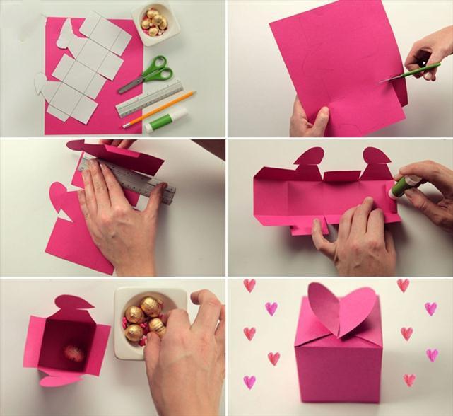 مراحل ساختن جعبه هدیه برای کادویی