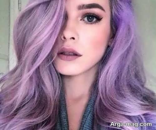 رنگ موی یاسی تیره