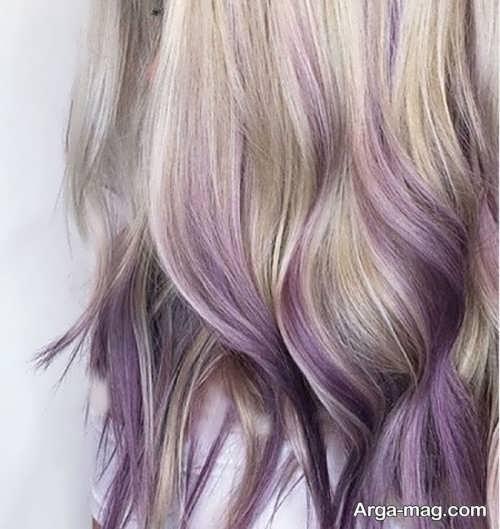 مدل رنگ مو زنانه یاسی