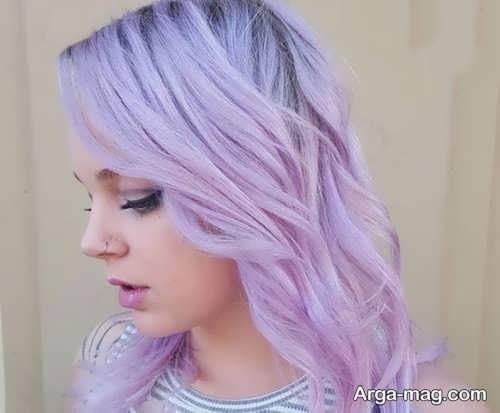 رنگ موهای زنانه یاسی