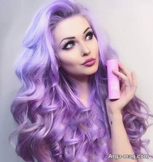 رنگ موی یاسی شیک