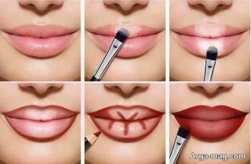 مراحل آرایش کردن لب ها