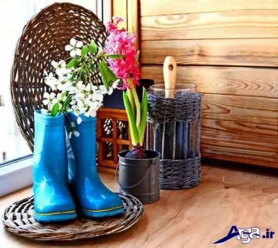 ایده ساخت گلدان برای تزیین منزل
