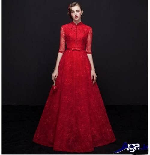 مدل لباس ماکسی قرمز