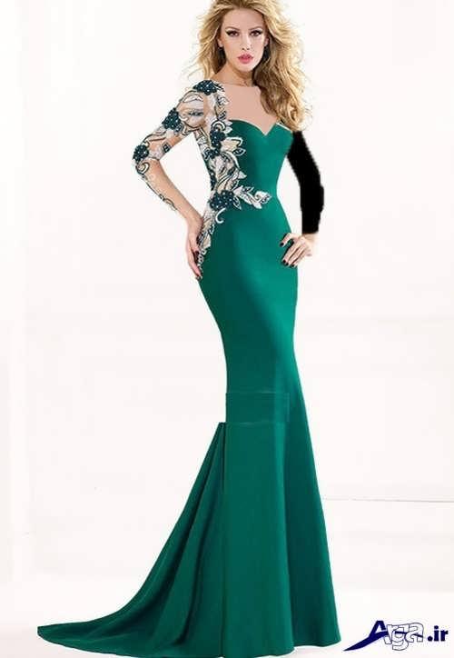 مدل لباس سبز مجلسی