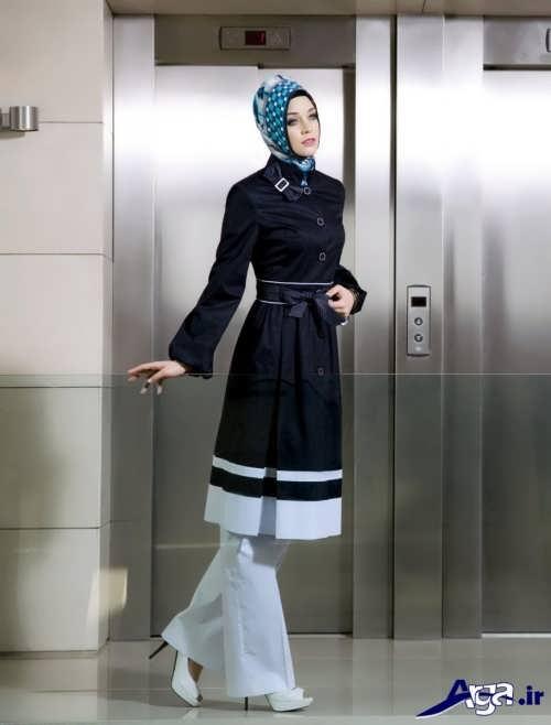 مدل مانتو مشکی و سفید زنانه