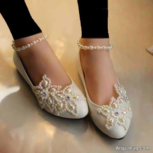 مدل کفش عروس بدون پاشنه جدید و شیک