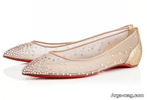 مدل کفش عروس شیک و بدون پاشنه
