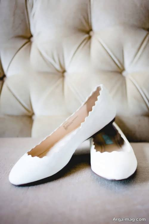 مدل کفش بدون پاشنه عروس سفید