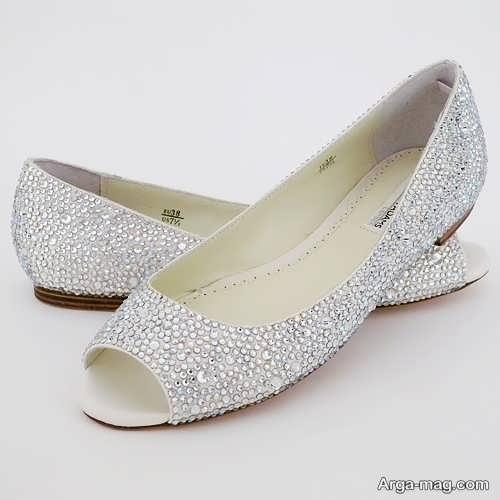 مدل کفش جلو باز عروس