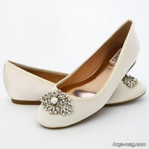 مدل کفش عروس کار شده