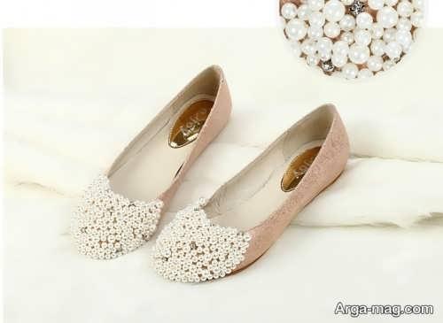 مدل کفش کار شده و جذاب عروس