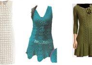 مدل لباس مجلسی قلاب بافی زنانه و دخترانه