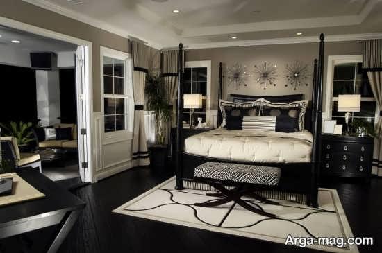 مدل فرش طرح دار اتاق خواب جدید