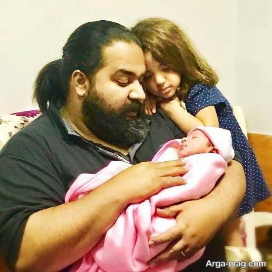 تولد فرزند جدید رضا صادقی