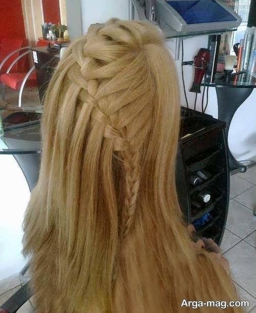 مدل موی باز همراه با بافت مو