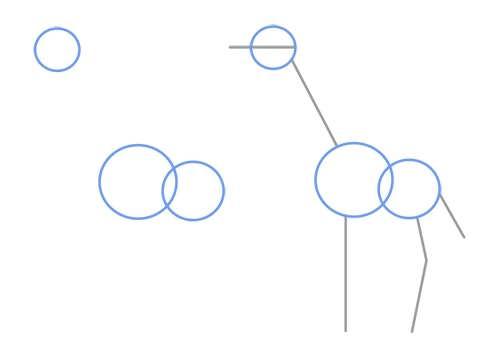 آموزش کشیدن زرافه با کمک شکل های هندسی