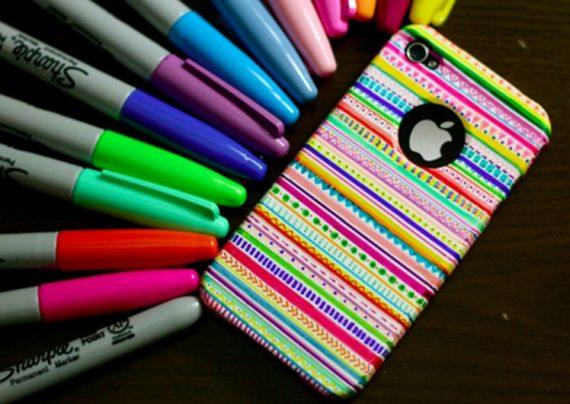 نقاشی روی قاب گوشی همراه با ایده های خلاقانه