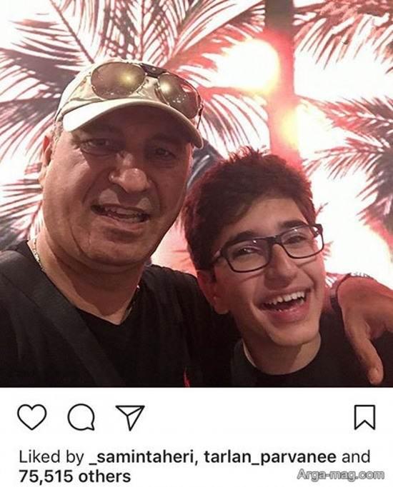 عکس حمید فرخ نژاد و پسرش