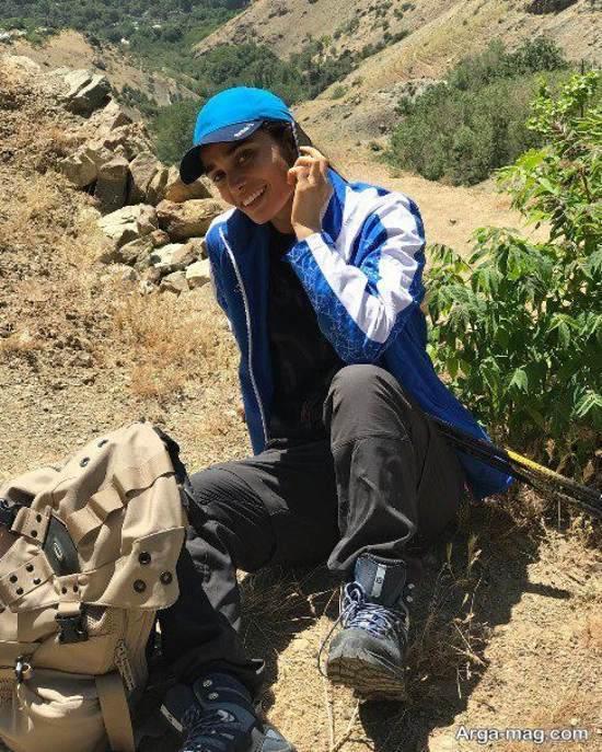 عکس کوهنوردی تینا آخوند تبار