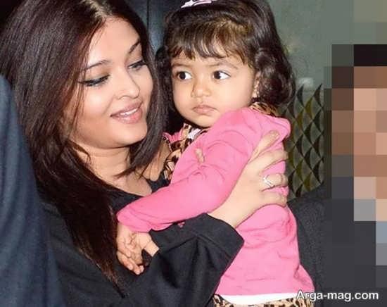 عکس آیشواریا رای و دخترش