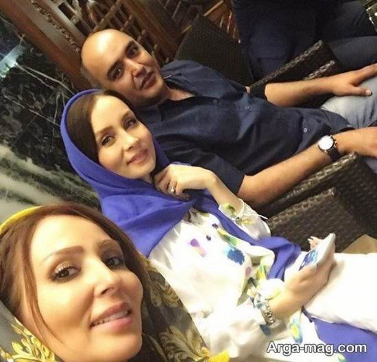 عکس سلفی پرستو صالحی با زوج بازیگر