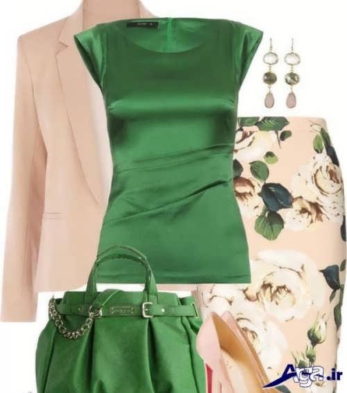 ست رنگ سبز و کرم