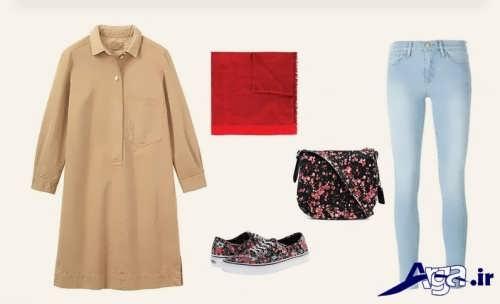 ست کرم رنگ برای انواع پوشاک مختلف