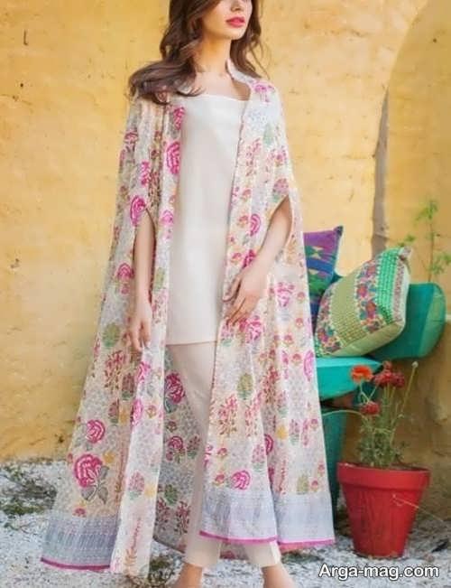 قشنگ ترین مدل مانتو حریر گلدار