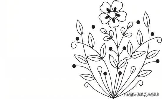 طرح گلدوزی ساده و زیبا برای گلدوزی بر روی انواع پارچه و لباس