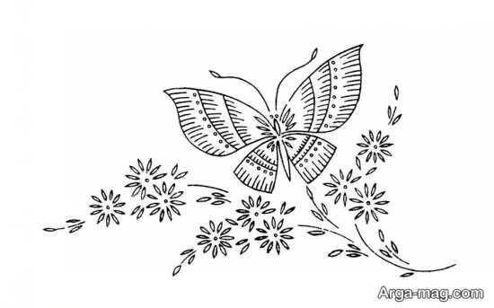 الگوهای طرح ساده گلدوزی