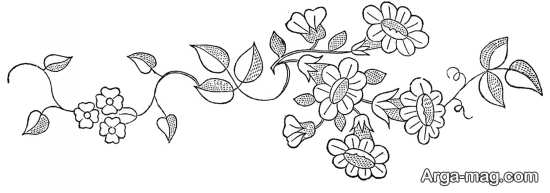 طرح گل نمدی طرح رومیزی طرح گلدوزی ساده و زیبا برای گلدوزی بر روی انواع پارچه و لباس