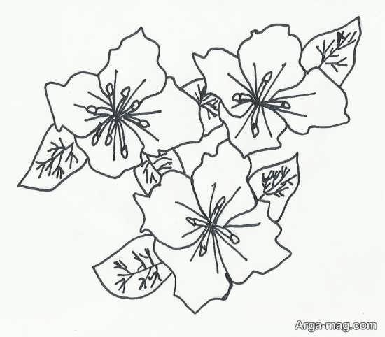 سرمه دوزی طرح گلدوزی ساده و زیبا برای گلدوزی بر روی انواع پارچه و لباس