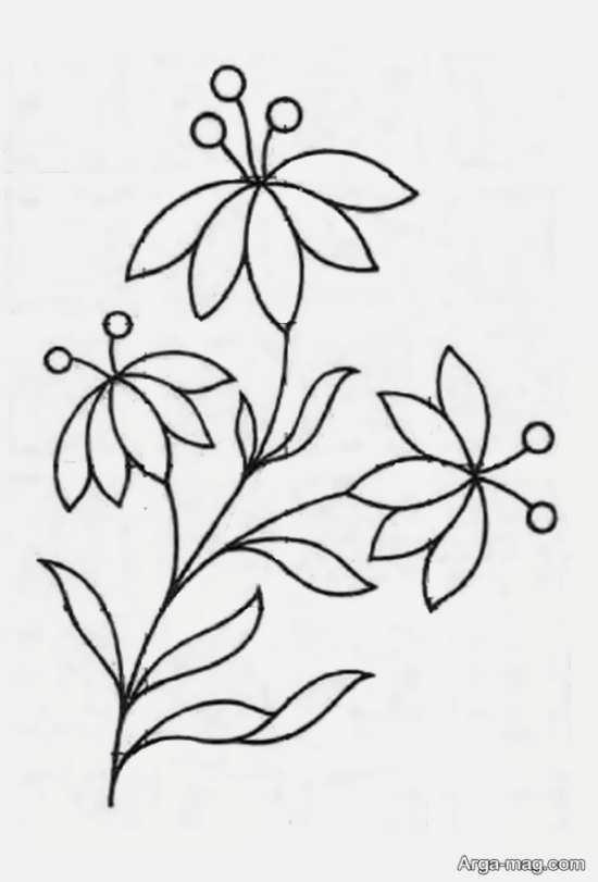 الگوی ساده گلدوزی با ایده زیبا