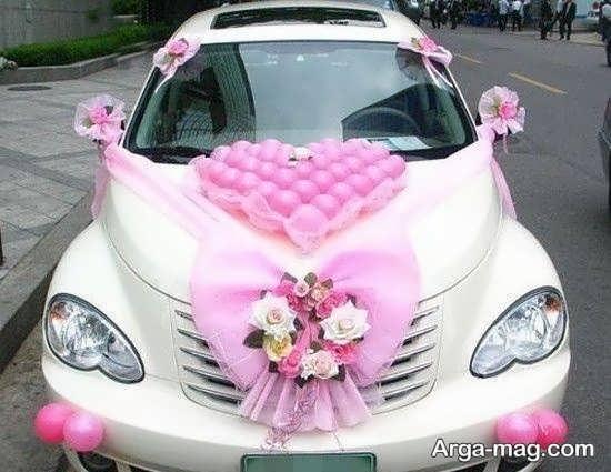 تزیین شیک اتومبیل عروس ساده