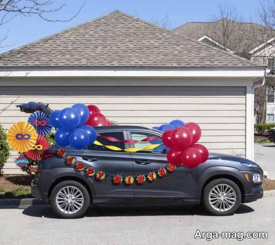 ایده تزیین اتومبیل عروس ساده
