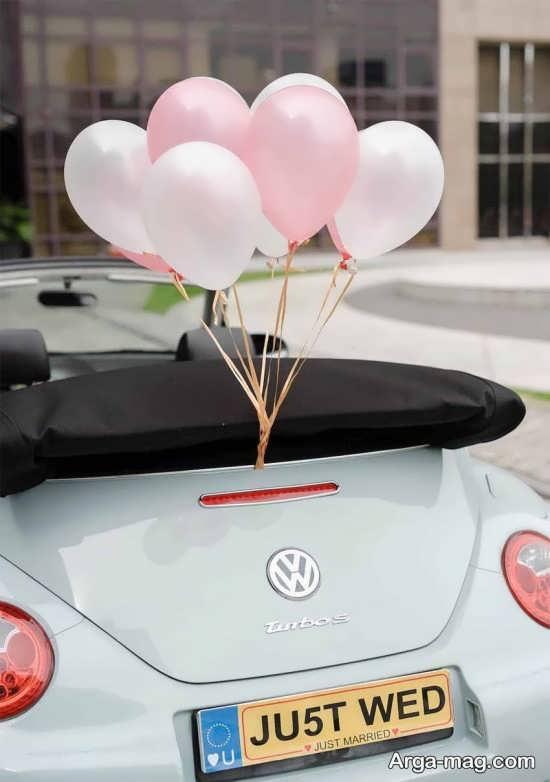 تزیینات اتومبیل عروس ساده