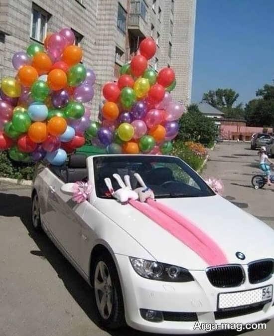 تزیین خاص اتومبیل عروس ساده
