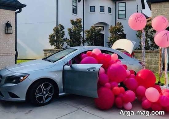 ایده تزیین ماشین عروس ساده