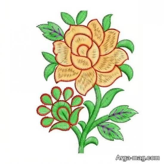 الگوی گلدوزی ساده زیبا