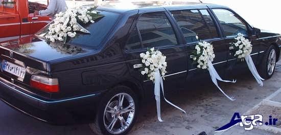تزیین ماشین عروس ساده و زیبا