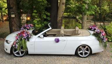 تزیین ماشین عروس ساده