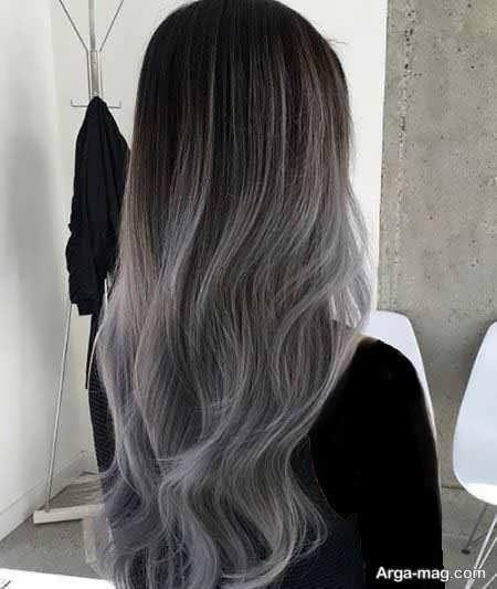 رنگ موی شیک و زیبا دودی نقره ای