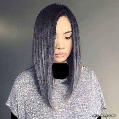 رنگ موی زنانه دودی نقره ای