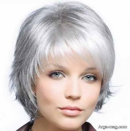 رنگ موی شیک و متفاوت دودی نقره ای