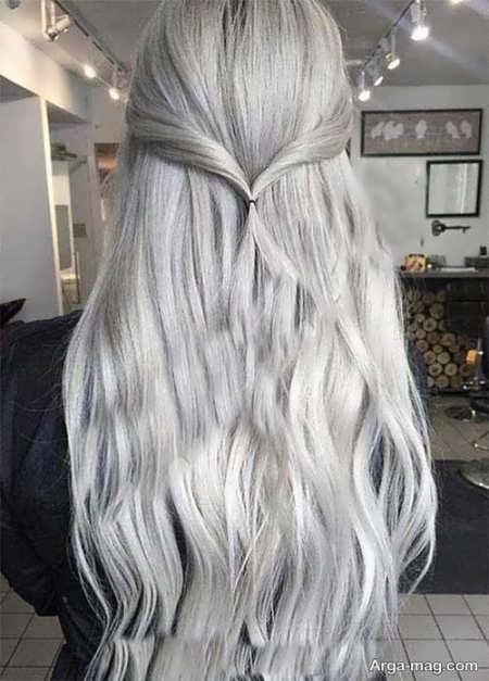 رنگ موی روشن دودی نقره ای