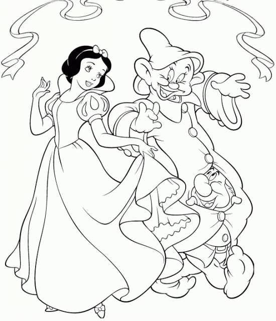 نقاشی کوتوله ها و سفید برفی