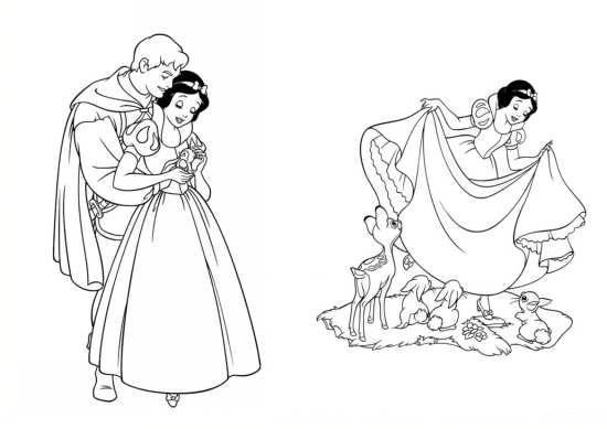 نقاشی شاهزاده و سفید برفی